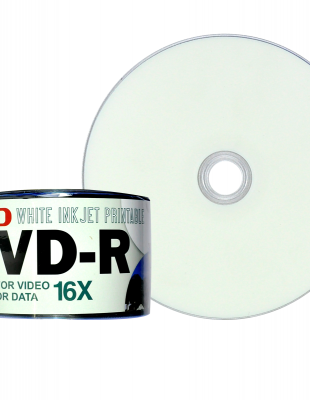 Ryo White Ink Jet Printable DVD-R 120min/4.7GB/16X 50 Pieces